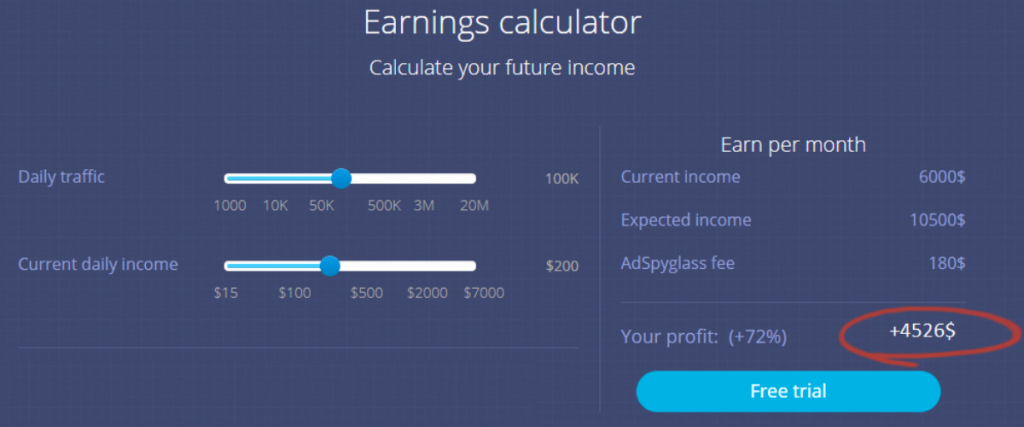 Earning calculator